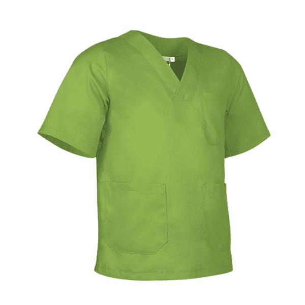 Bata antifluida lavable unisex para hombre y mujer verde manzana para todos los sectores, Servicios generales, médico, enfermería, hospitalario, consulta externa.