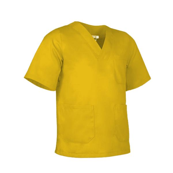 Bata antifluida lavable unisex para hombre y mujer amarillo girasol para todos los sectores, Servicios generales, médico, enfermería, hospitalario, consulta externa.