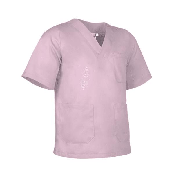 Bata antifluida lavable unisex para hombre y mujer rosa pastel para todos los sectores, Servicios generales, médico, enfermería, hospitalario, consulta externa.